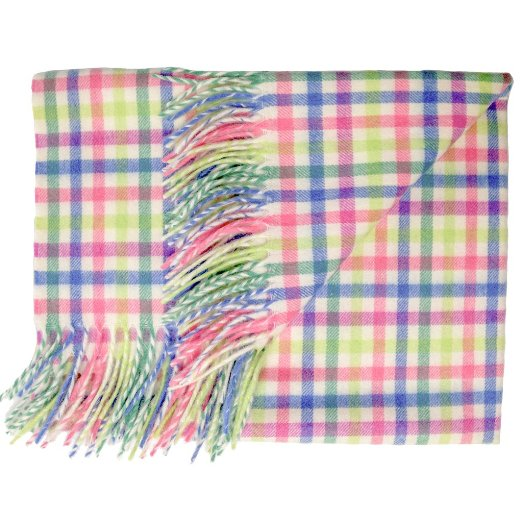 Prince of Scots English Stroller Blanket in Candy Gingham