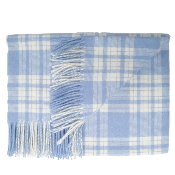 Prince of Scots English Stroller Blanket ~ Blue Plaid