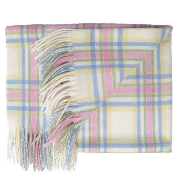 Prince of Scots English Stroller Blanket ~ Pastel Plaid